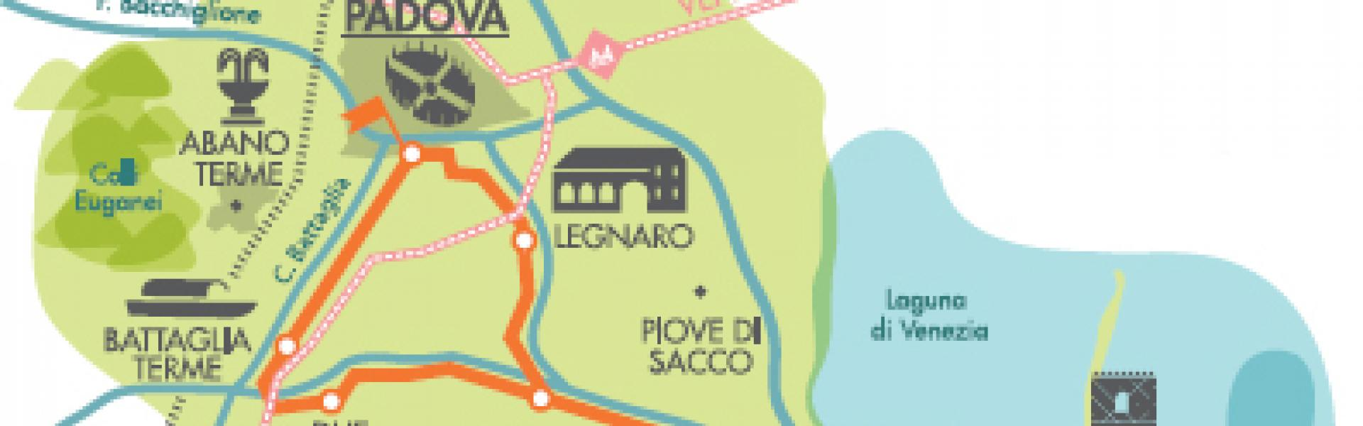 Mappa della via del sale  e dello zucchero